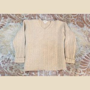 J. Crew Sweater Beige Lambswool - Size S